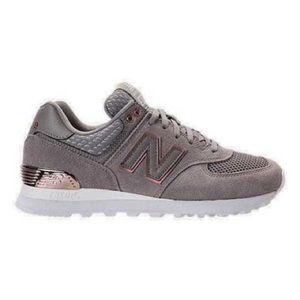 New Balance 574 Gray & Rose gold